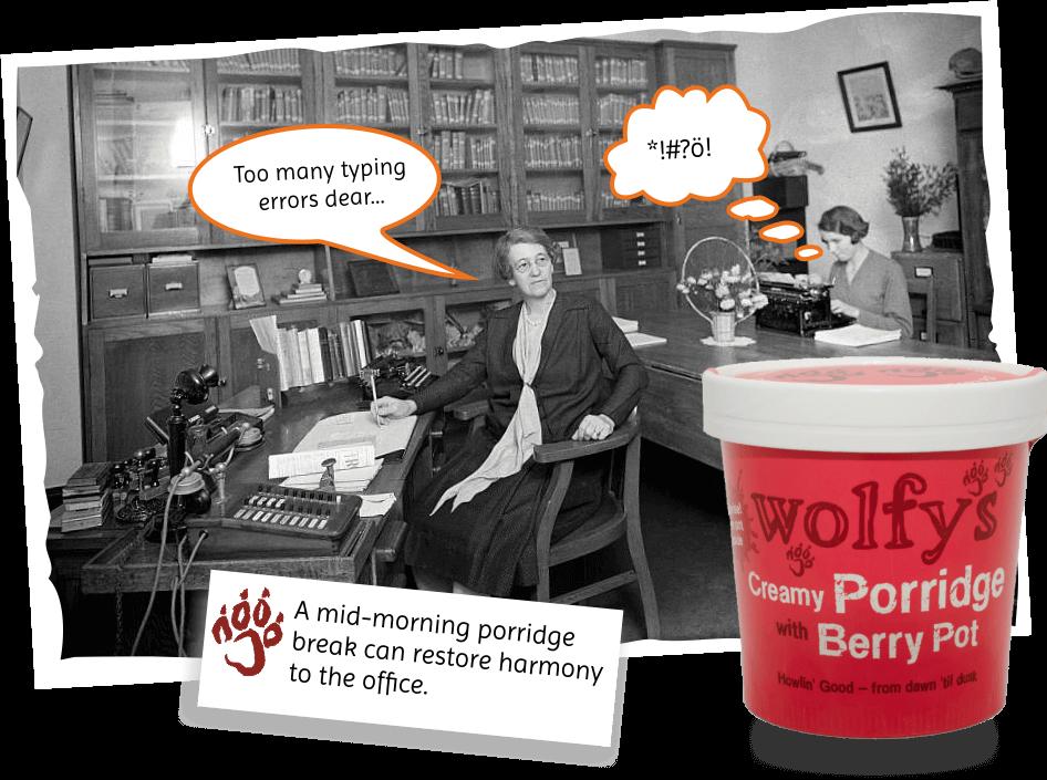 easy to make porridge for the office