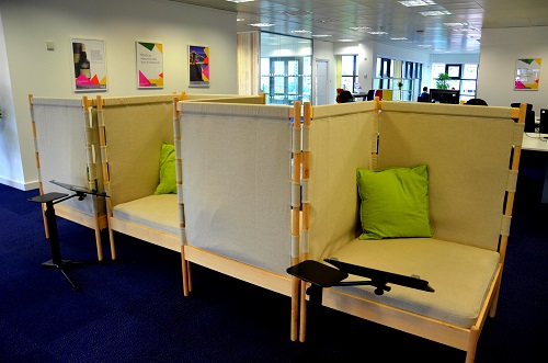 intimate work spaces in the office