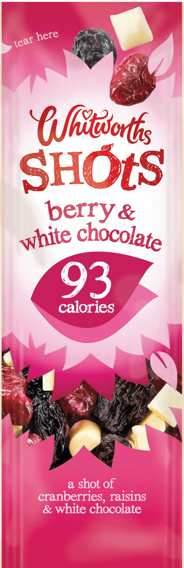 Whitworths Shots - Berry & White Chocolate (93 Calories)
