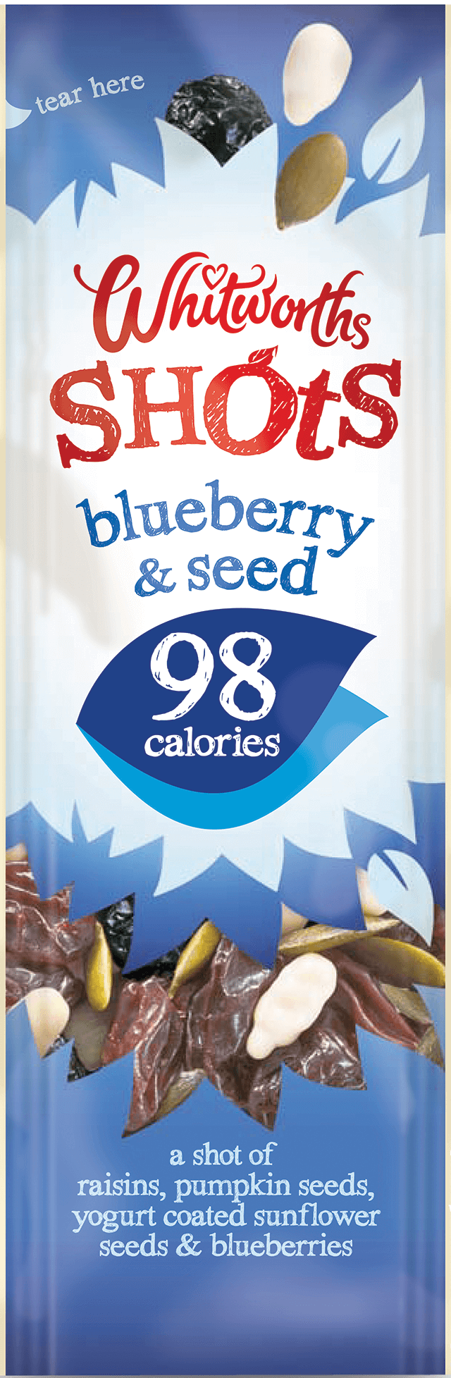 Whitworths Shots - Blueberry & Seed (98 calories)