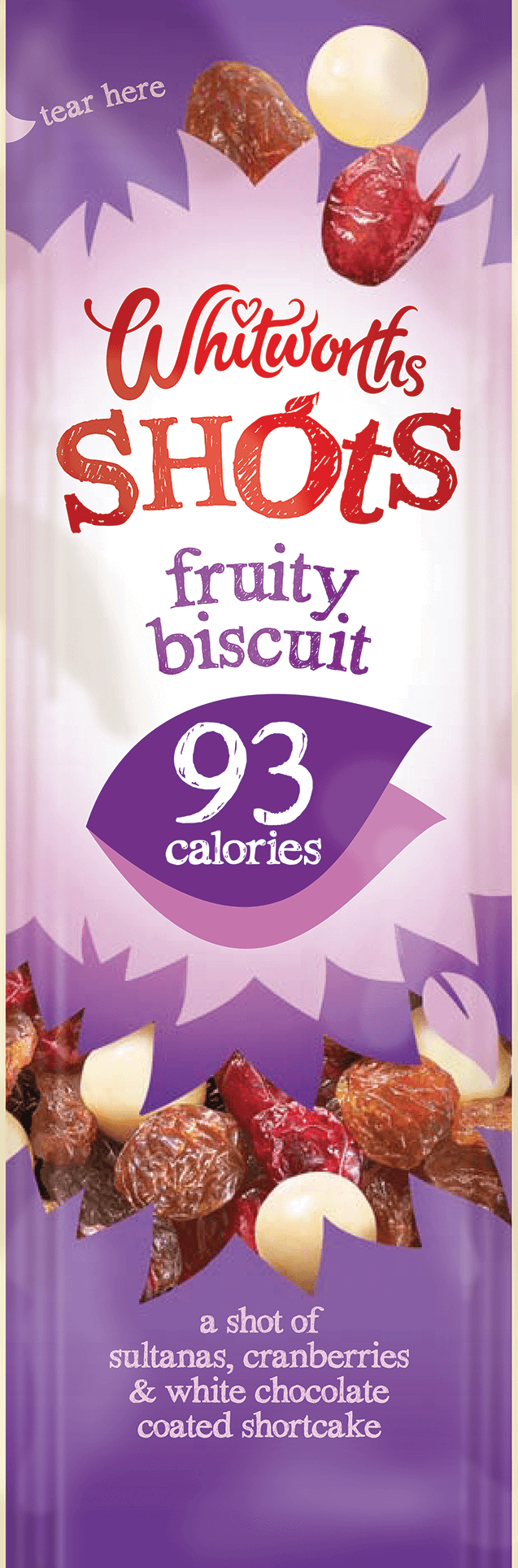 Whitworths Shots - Fruity Biscuit (93 calories)