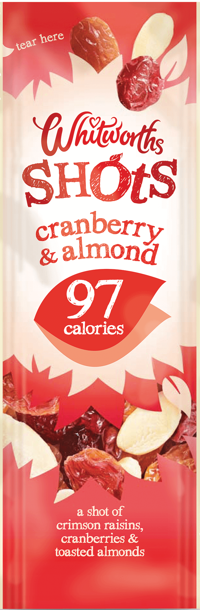 Cranberry & Almond 25g - Whitworths Snack Shot