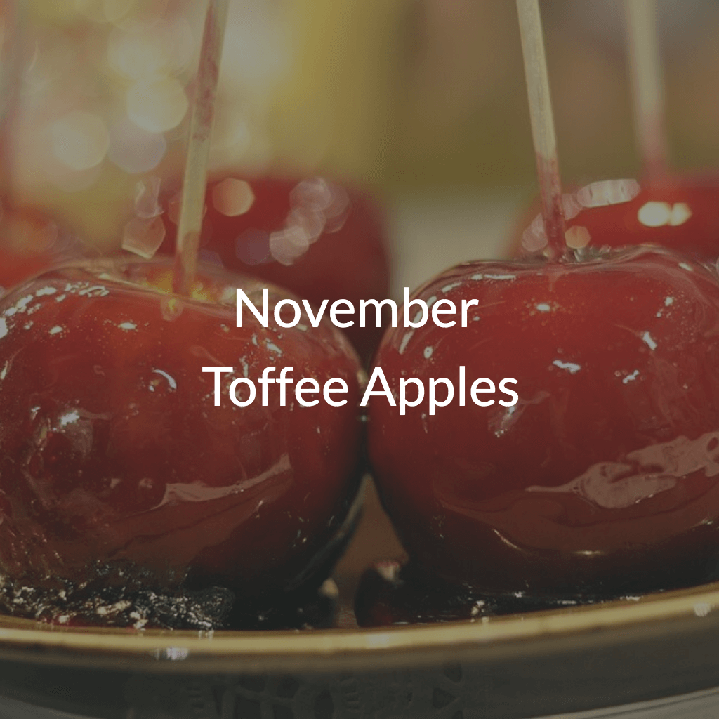 November's Monthly Surprise Toffee Apples