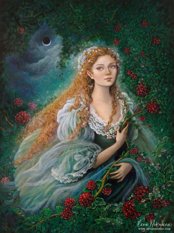 Fairy art painting. Copyright © Eeva Nikunen 2019. All rights reserved.