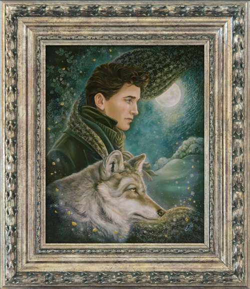 Moonlight Wanderer. Victorian fantasy wolf art. Copyright © Eeva Nikunen 2019. All rights reserved.