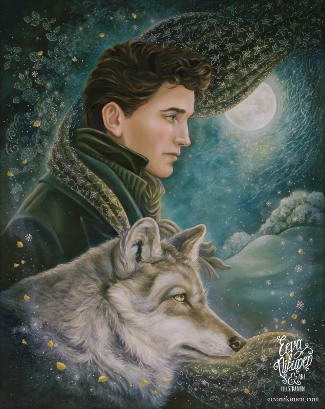 Moonlight Wanderer. Victorian Fantasy Art. Copyright © Eeva Nikunen 2019. All rights reserved.