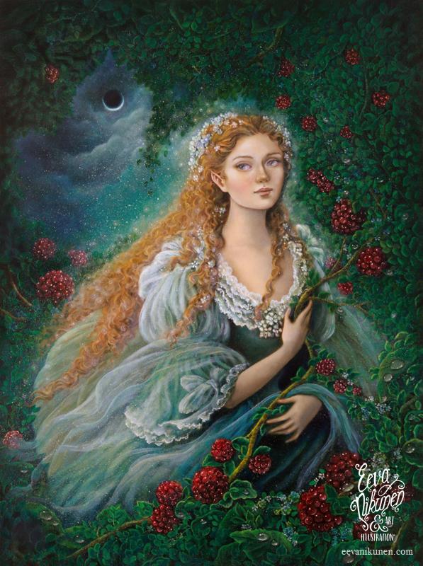 Moon Fae. Fairy art. Copyright © Eeva Nikunen 2019. All rights reserved.