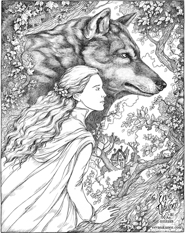 Red Riding Hood Grimm Fairytales. Copyright © Eeva Nikunen 2019. All rights reserved.