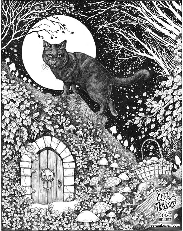 Harvest Moon. Fantasy Art Book Illustration. Copyright © Eeva Nikunen 2019. All rights reserved.