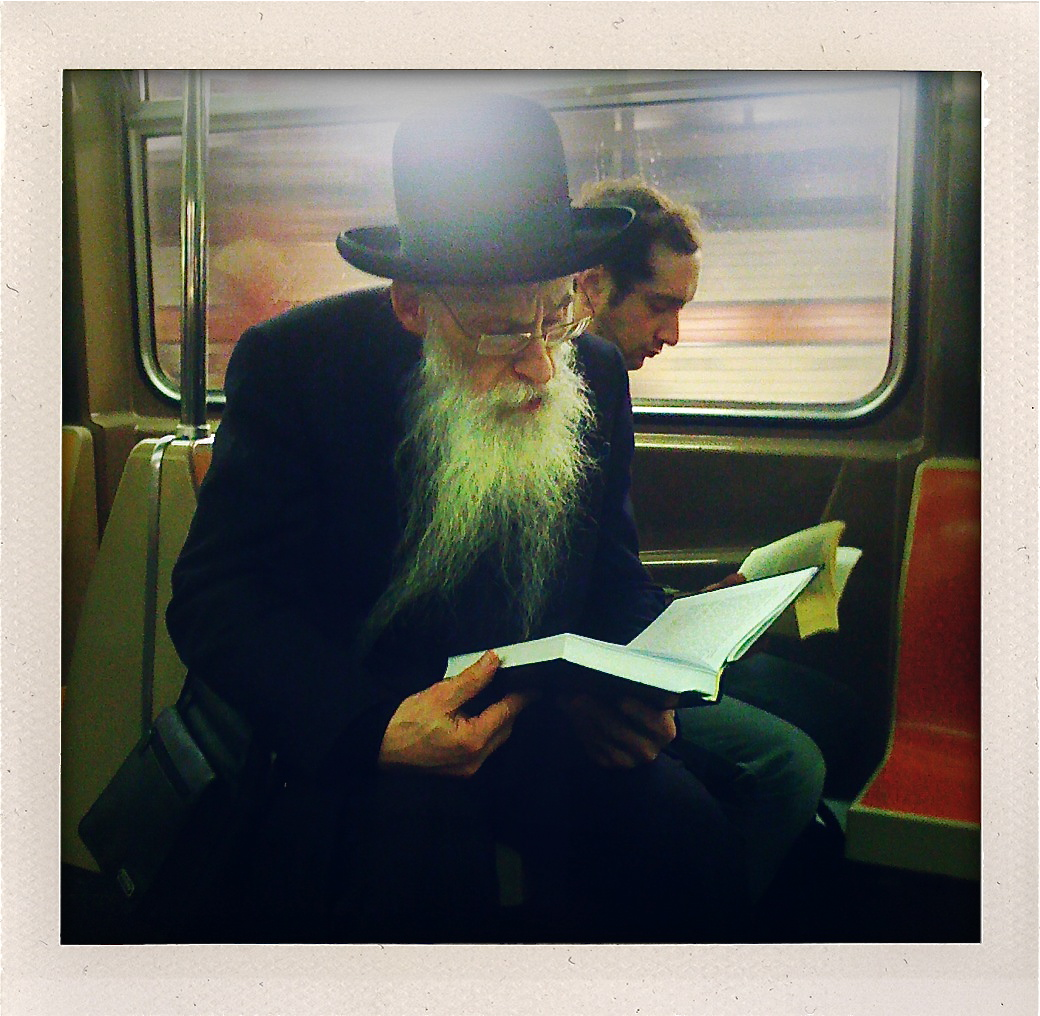 Permission to read on the train.