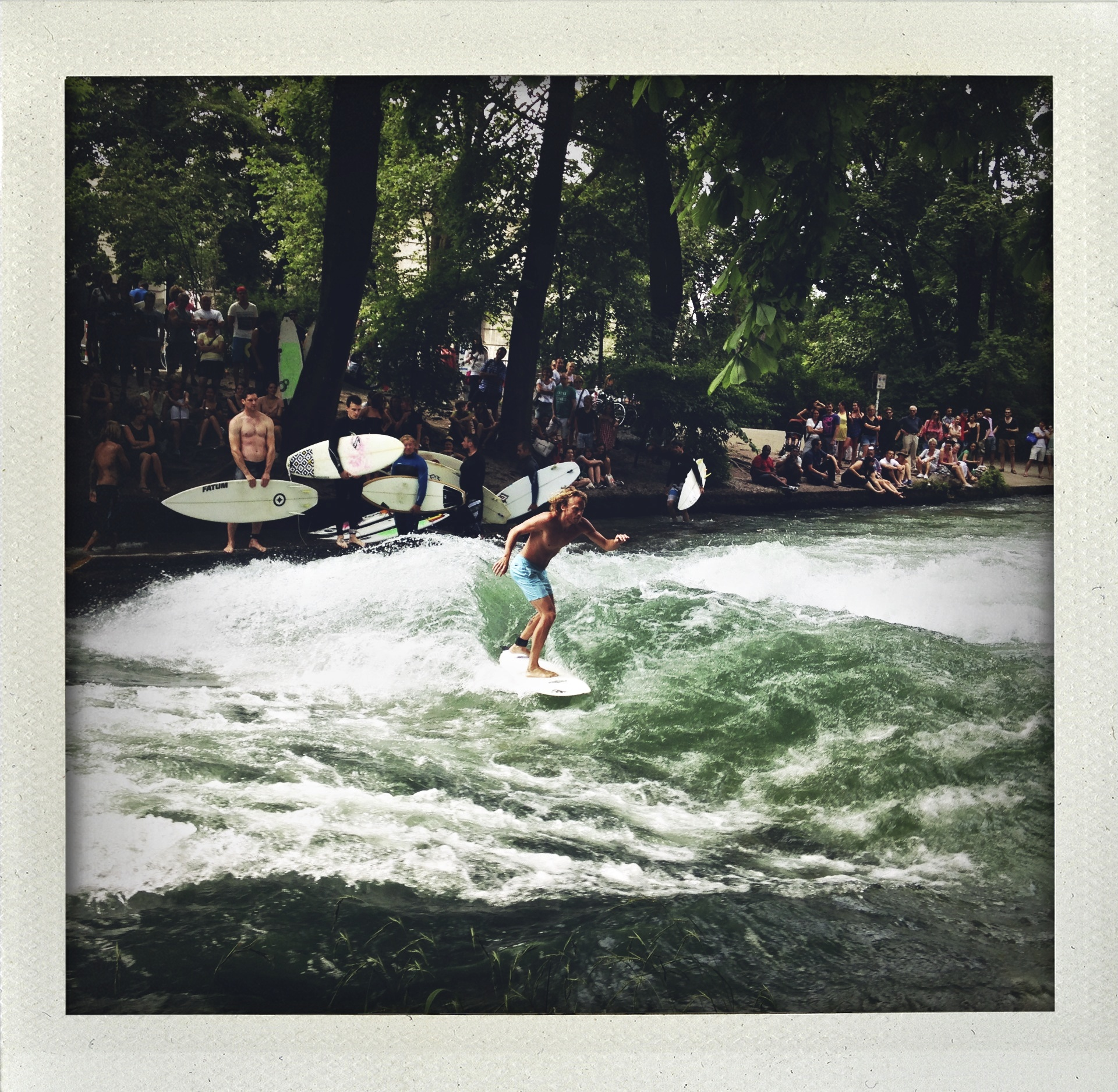 Permission to surf the river.