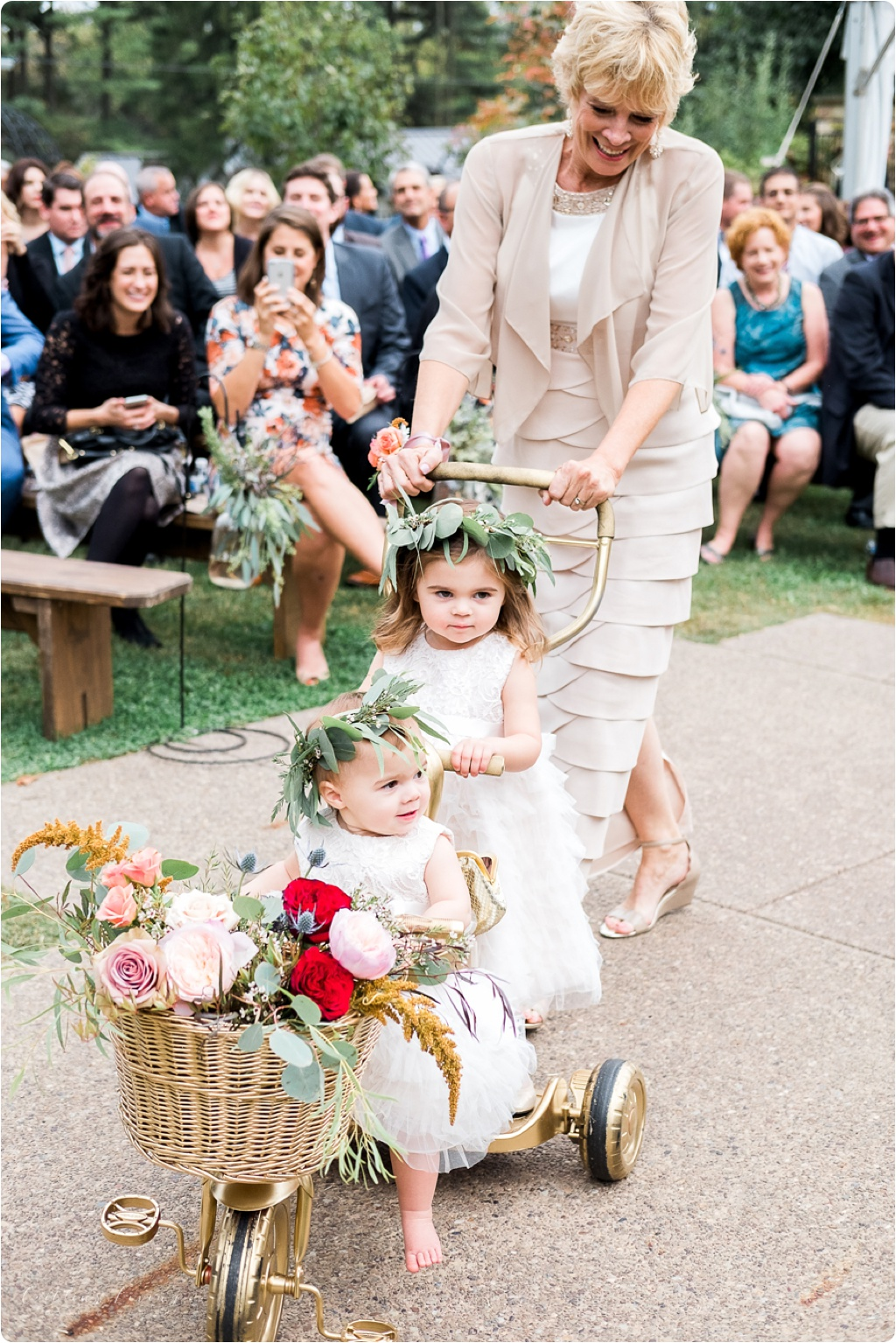 FlowerGirls_GoldBike_MotherofBride