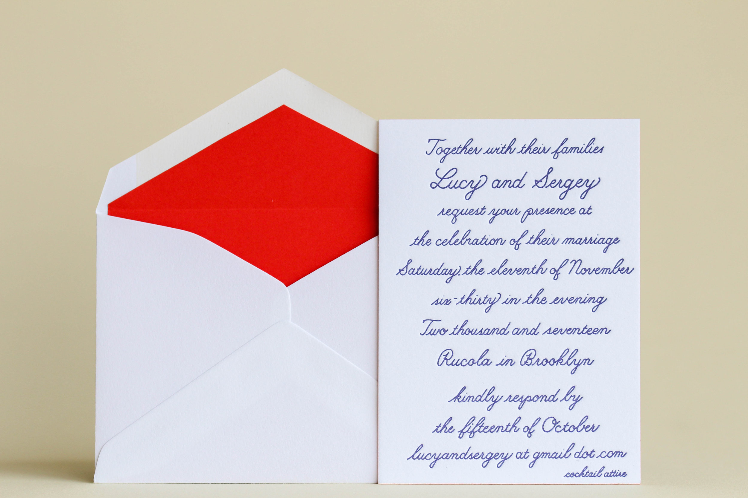 Lucy x Sergey Wedding Invitation