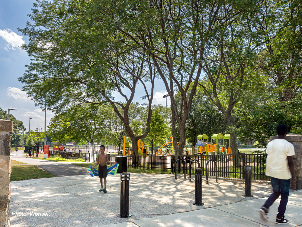 Hunt Almont Park in Mattapan, Photo by Ed Wonsek