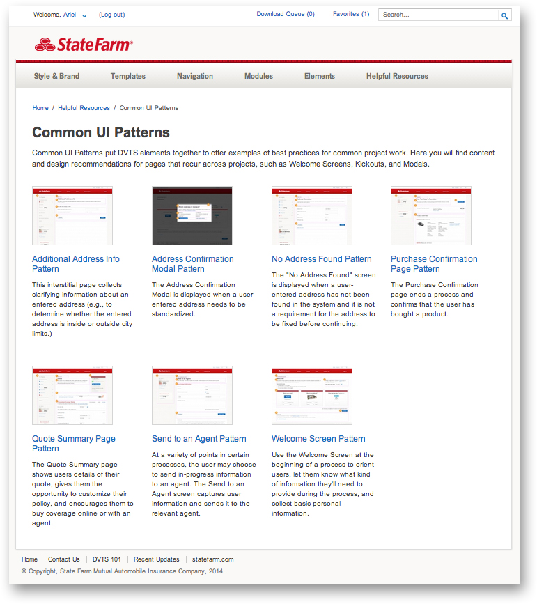 Common UI Patterns