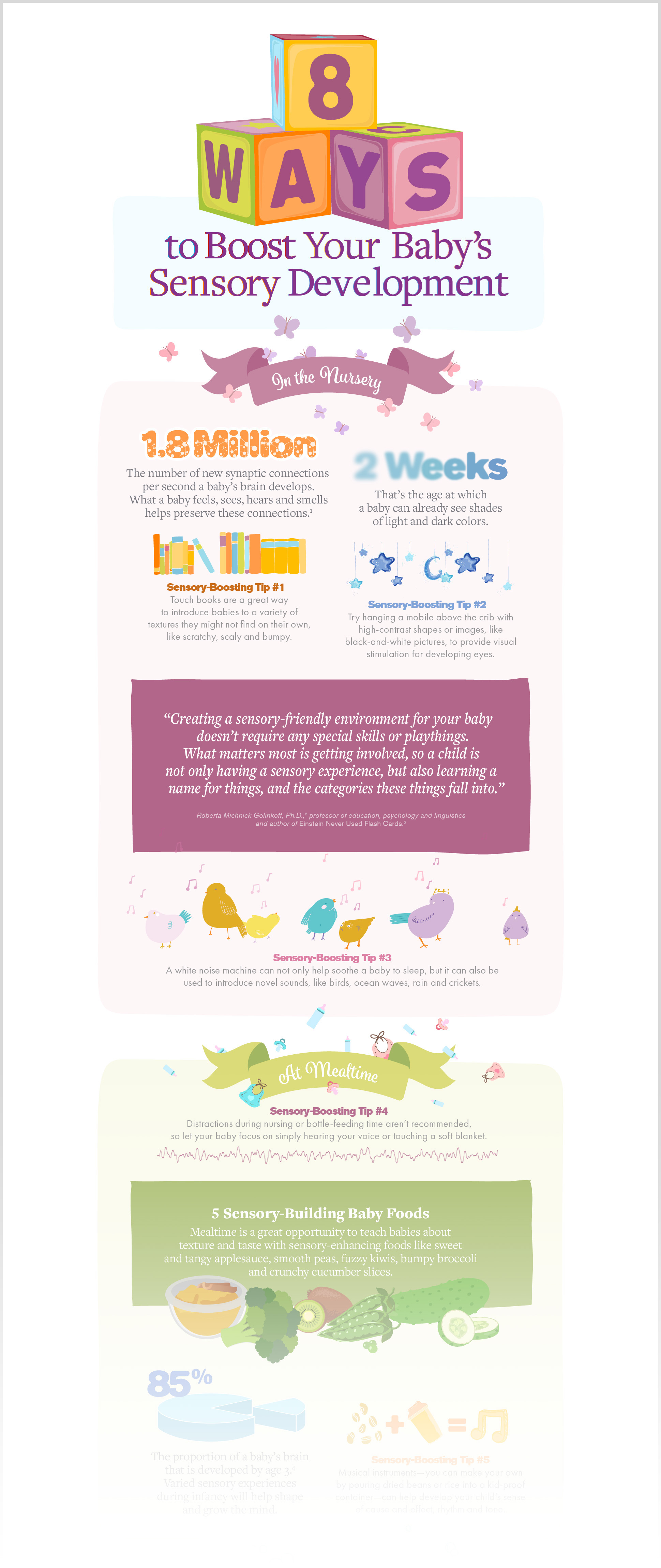 8 Ways to Boost Your Baby's Sensory Development Infographic