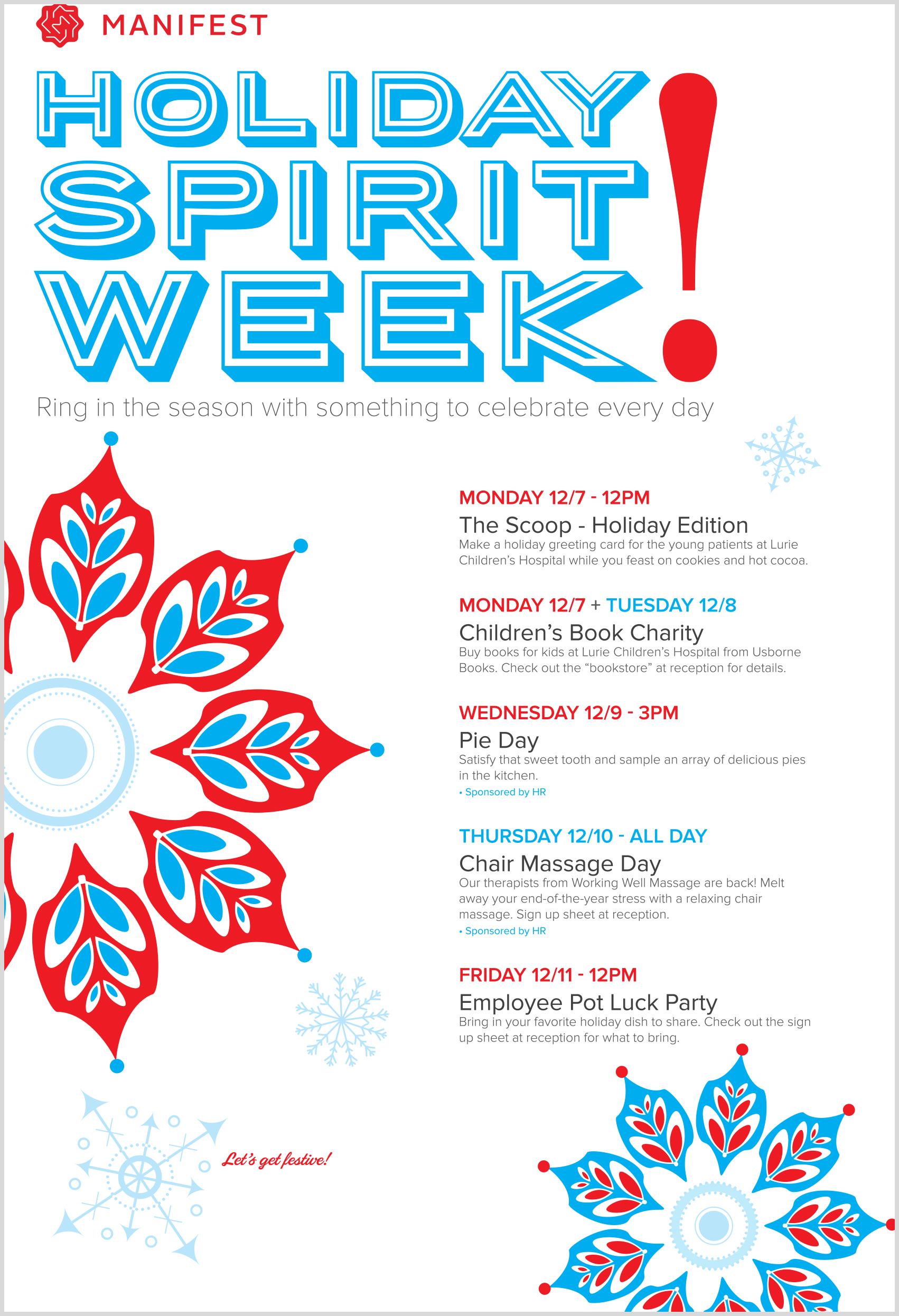 Holiday Spirit Week     Poster