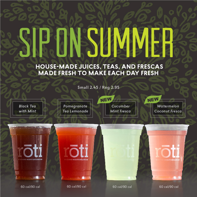 Summer Drinks Window Sticker