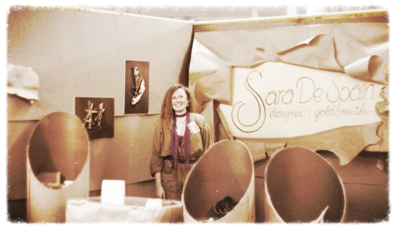 Sara at one of her early jewelry shows.