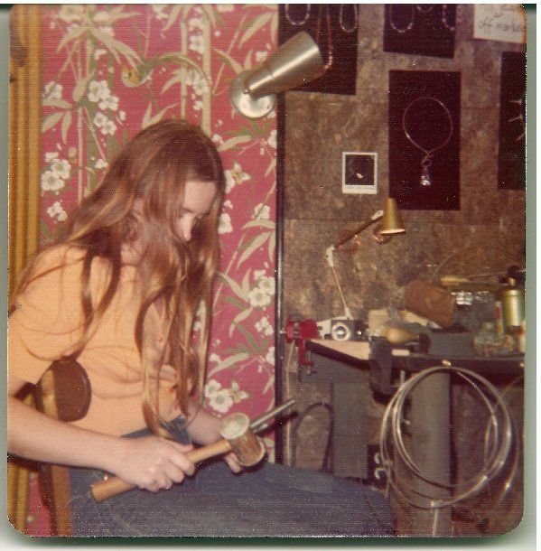 """Just beginning to make my work at the """"galleon"""" first shop ever in 1975"""