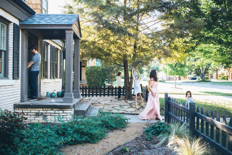Family porch session Oklahoma storytelling family photographer