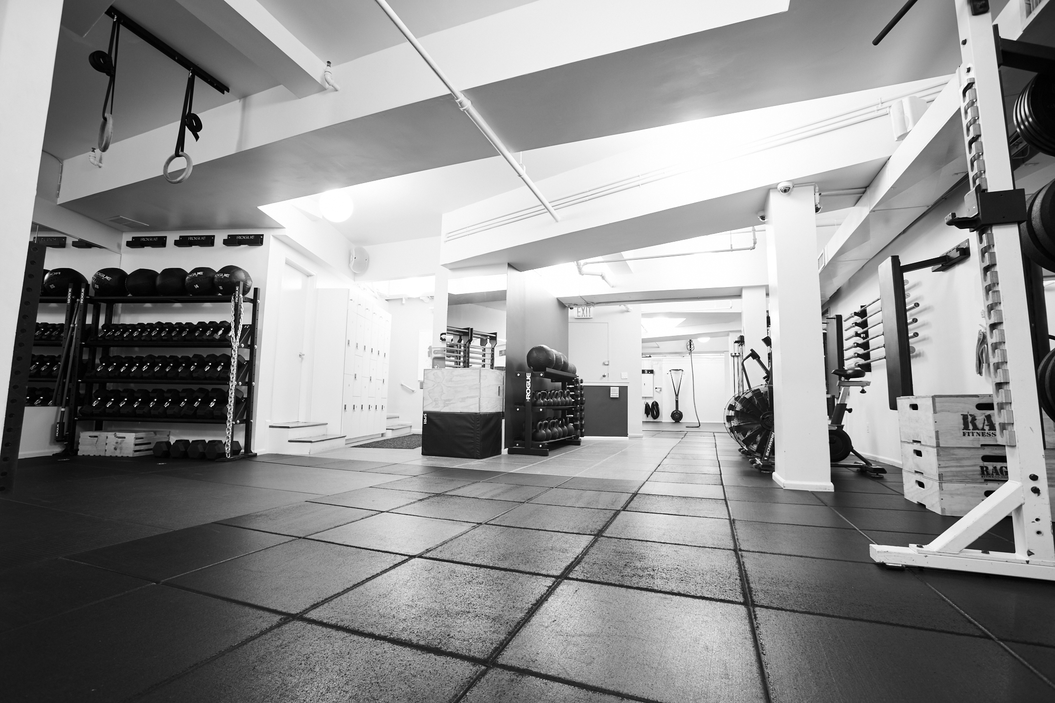 Open Training Floor - We've also stripped away any unnecessary equipment and have curated the pieces of equipment that deliver the best results.  Ropes, rings, stall bars, and other pieces that you will not find at other gyms.