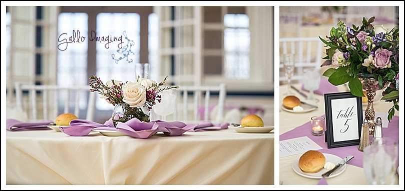 Fresh Designs Florist did a stunning job with the flowers and centerpieces. I loved the different vessels used for the tables.