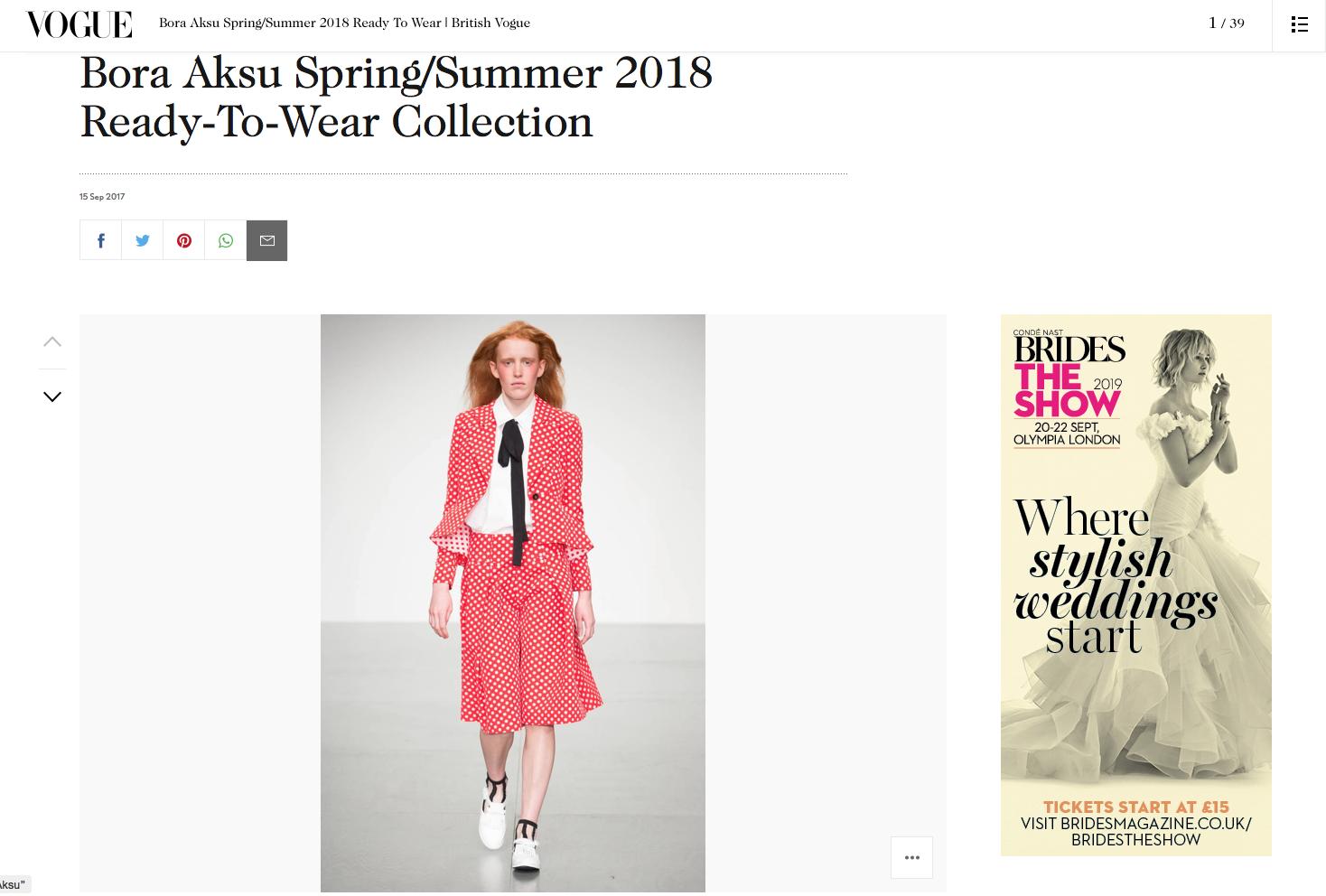 Bora Aksu Spring Summer 2018 Vogue