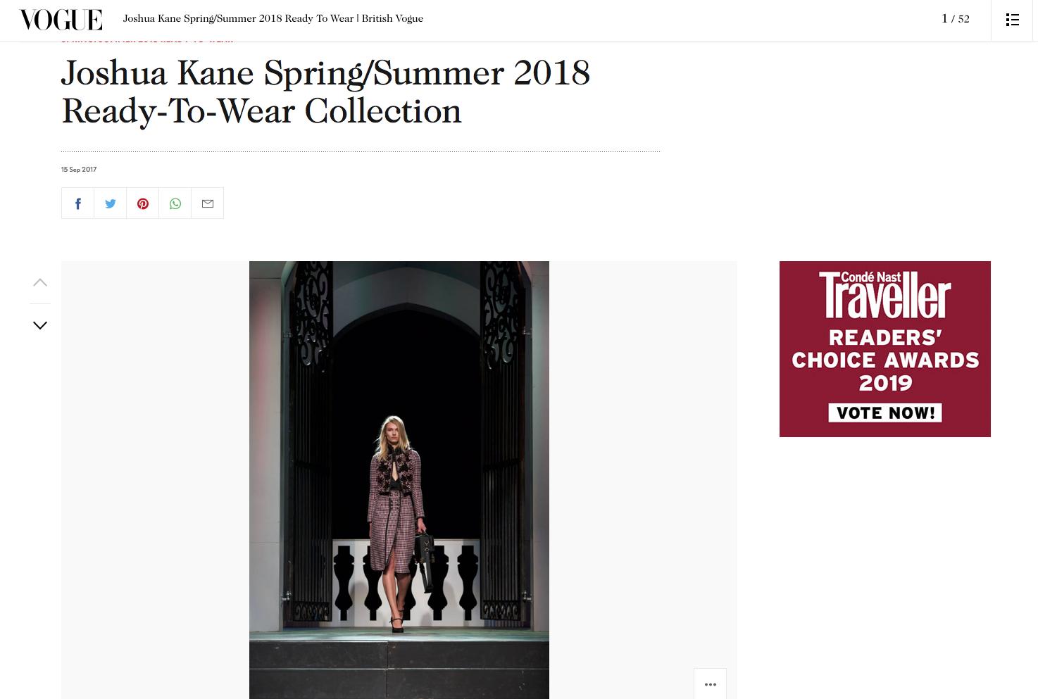 Joshua Kane Spring Summer 2018 Vogue