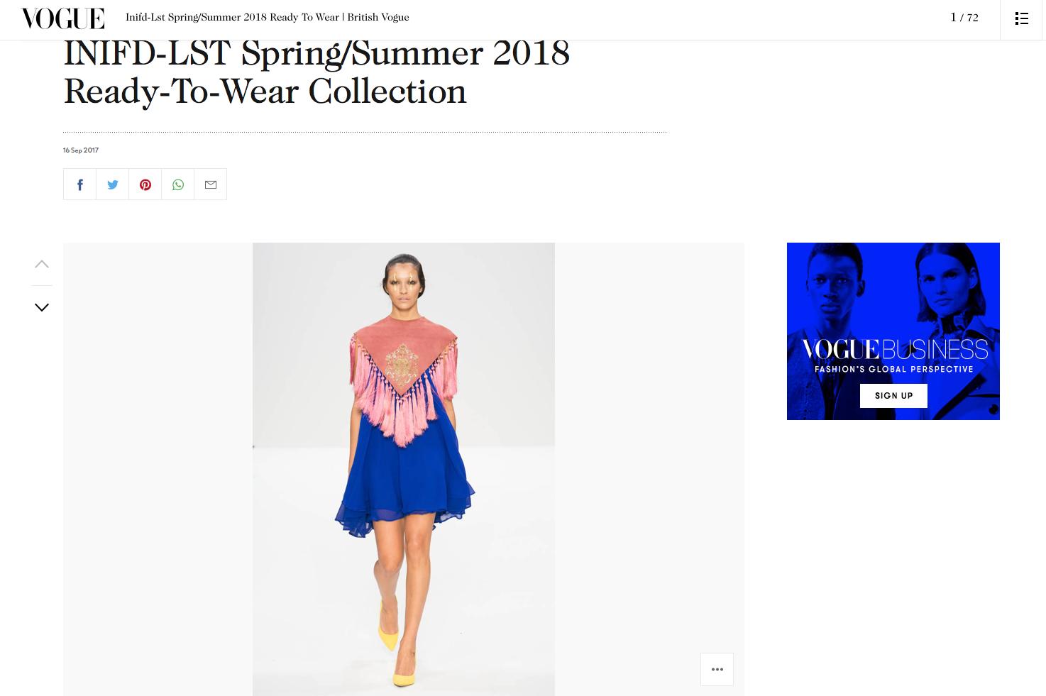 INIFD- LST Spring Summer 2018 Vogue
