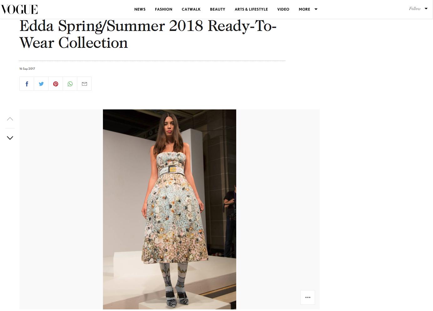 EDDA Spring Summer 2018 Vogue
