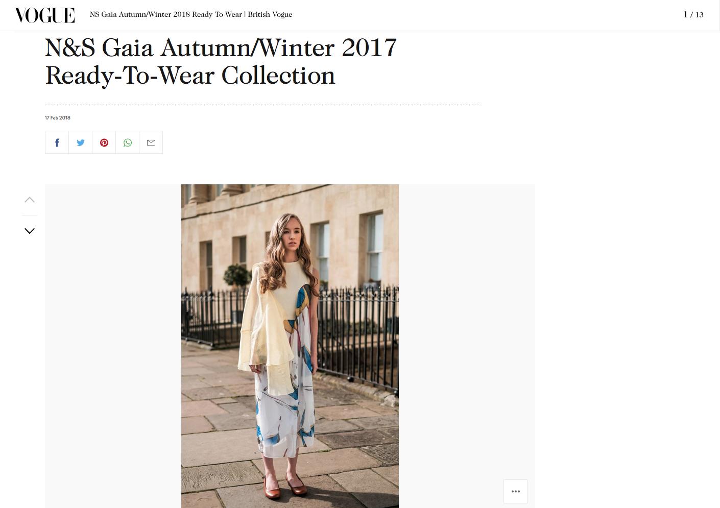 N&S Gaia Autumn Winter 2017 Vogue