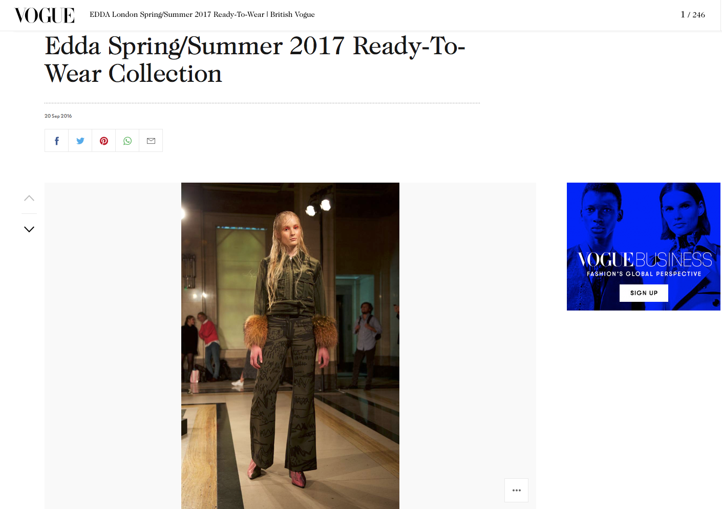 EDDA Spring Summer 2017 Vogue
