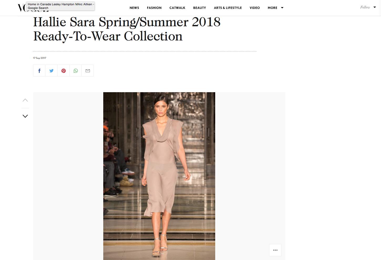 Hallie Sarah Spring Summer 2018 Vogue