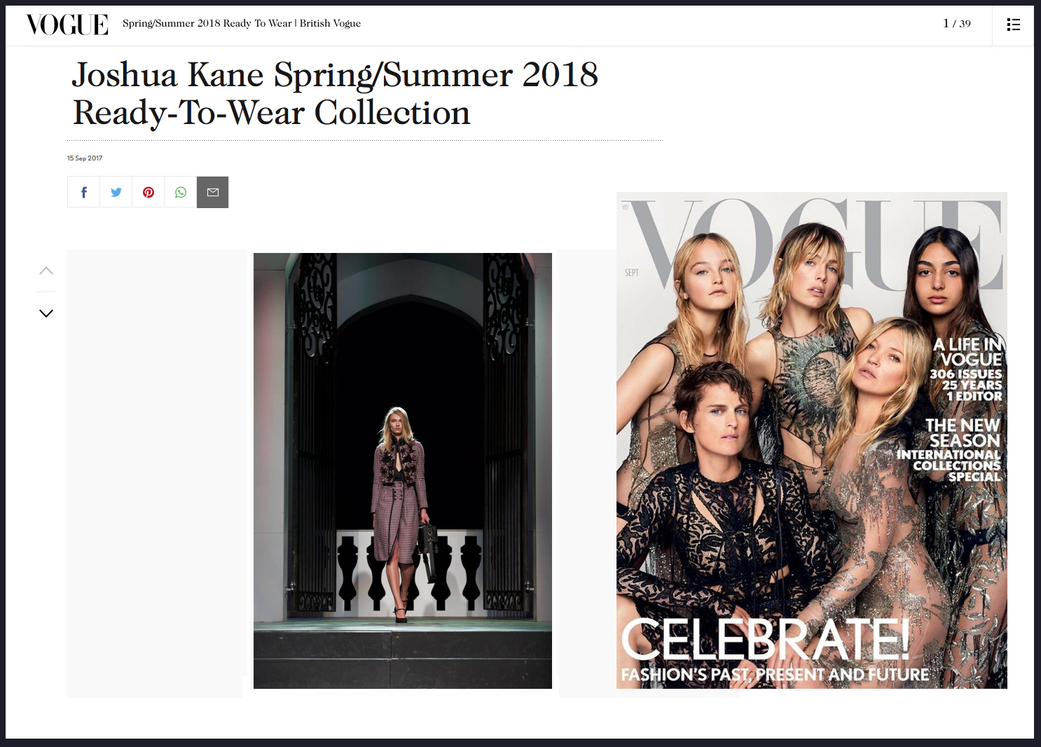 Copy of Joshua Kane Spring Summer 2018 Vogue