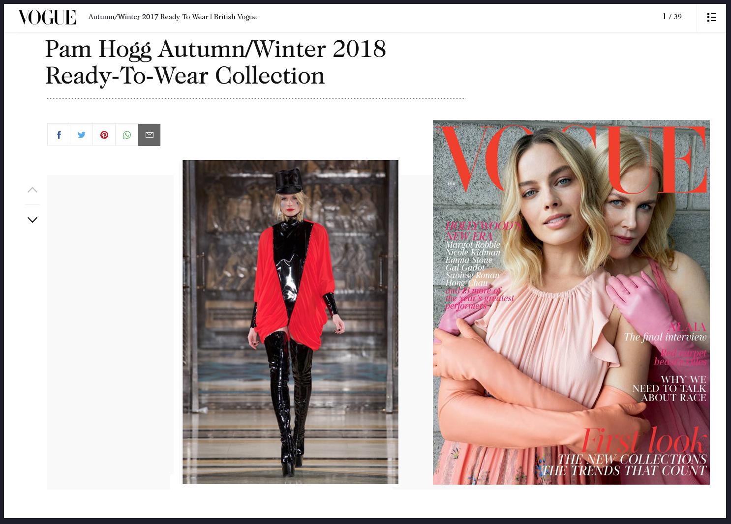 Copy of Pam Hogg Autumn Winter 2018 Vogue