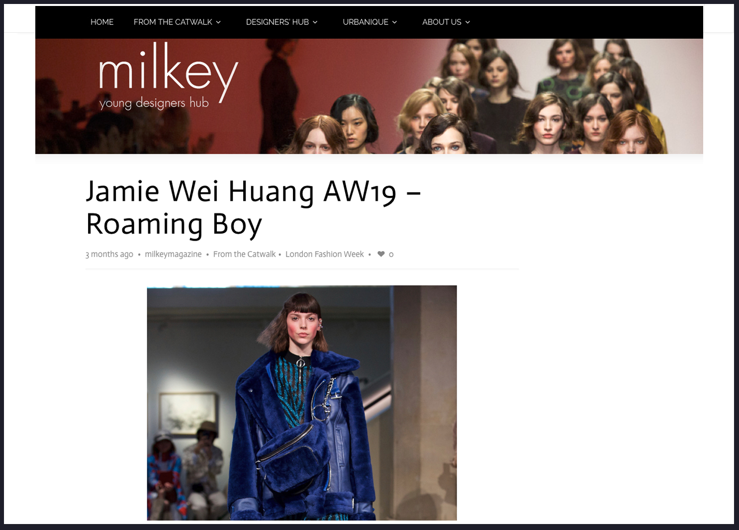 Milkey Magazine Jamie Wei Huang AW 19
