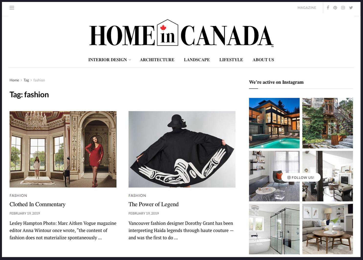 Lesley Hampton At Home In Canada