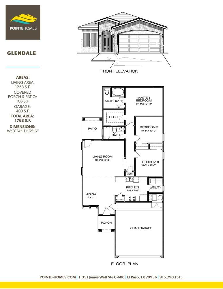 Pointe Homes Floor Plan Glendale