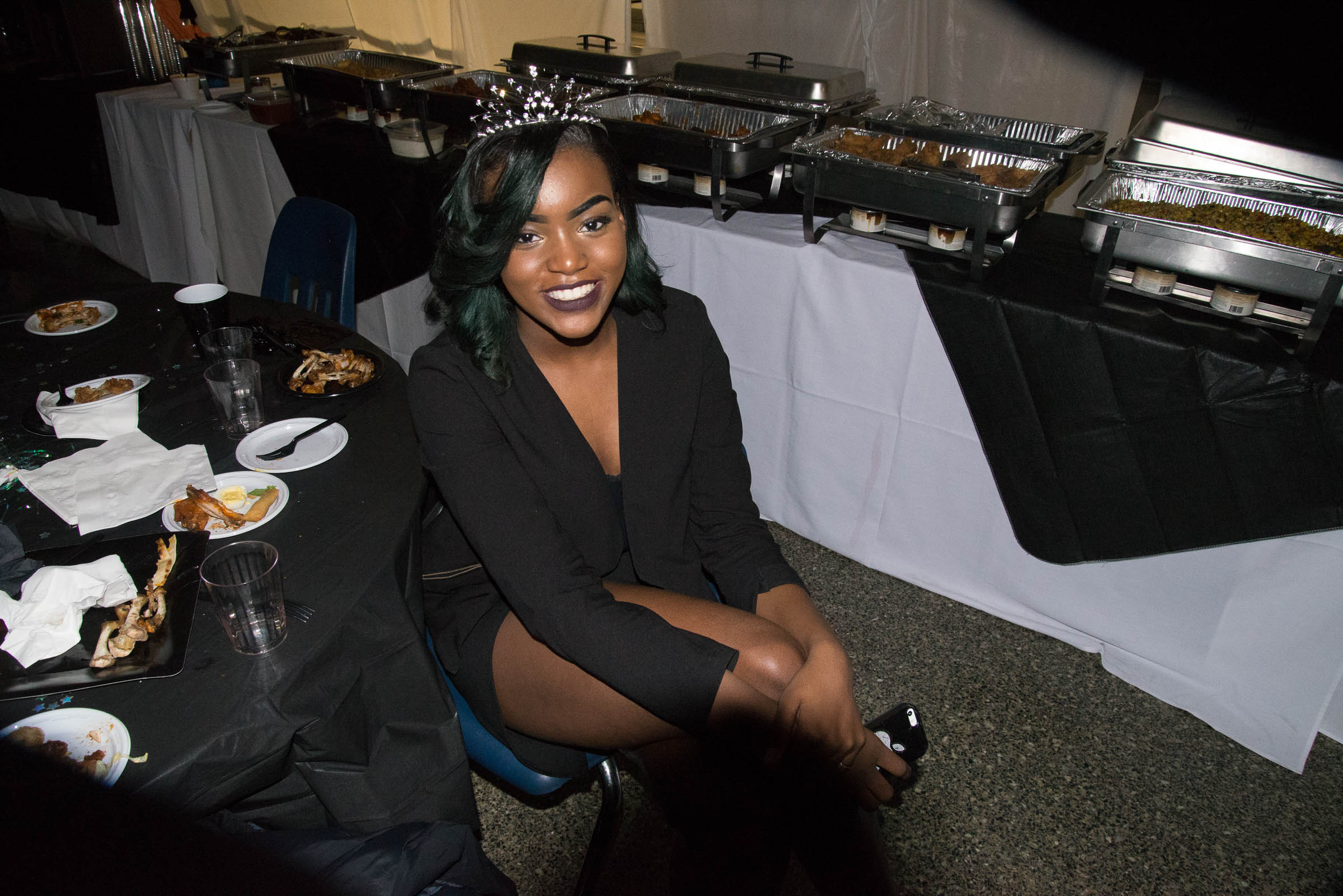 Homecoming queen, Jasmine Bourne, looks flawless at her last homecoming dance at FCA.