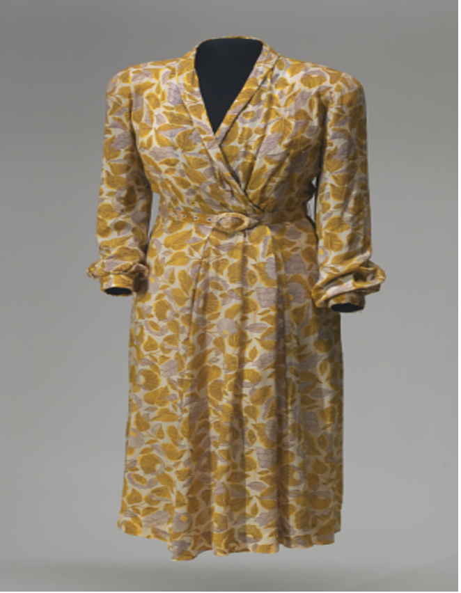This dress was sewn by Rosa Parks. She was a woman of many talents.