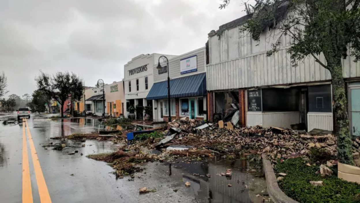 An example of the devastation in Florida following Hurricane Michael