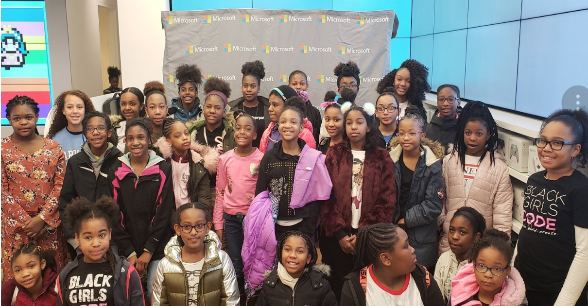 These girls attended a competition called Black Girls Code and learned a lot of new information from each other .
