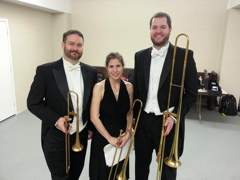 Mozart Requiem trombone section, the Clarion Society, New York City