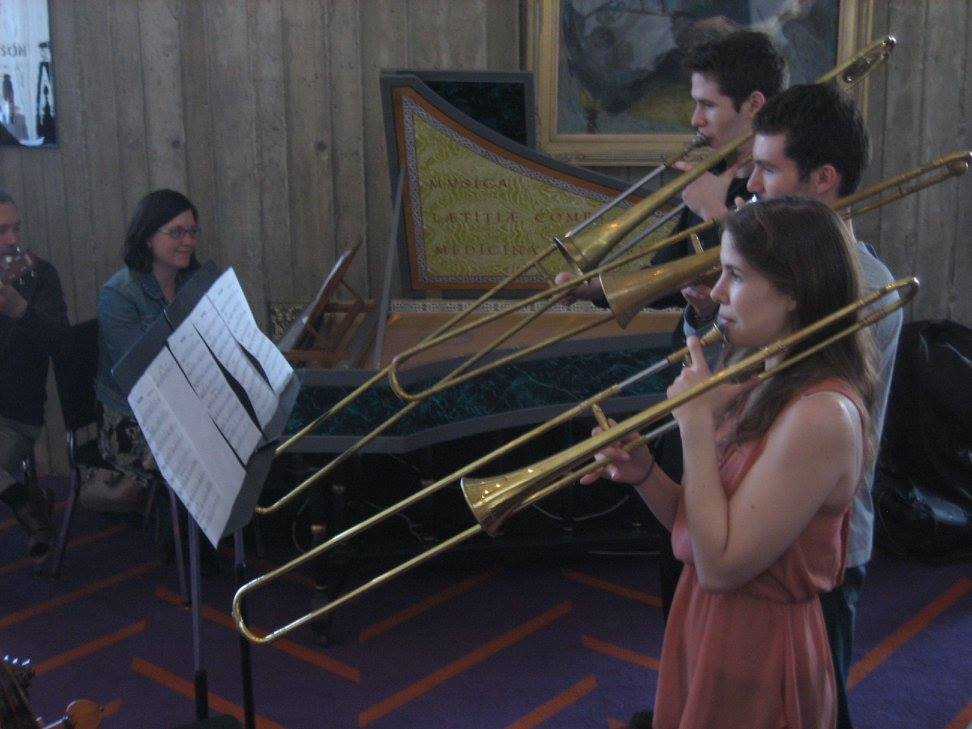 Performance with students from the Indiana University historical trombone studio.