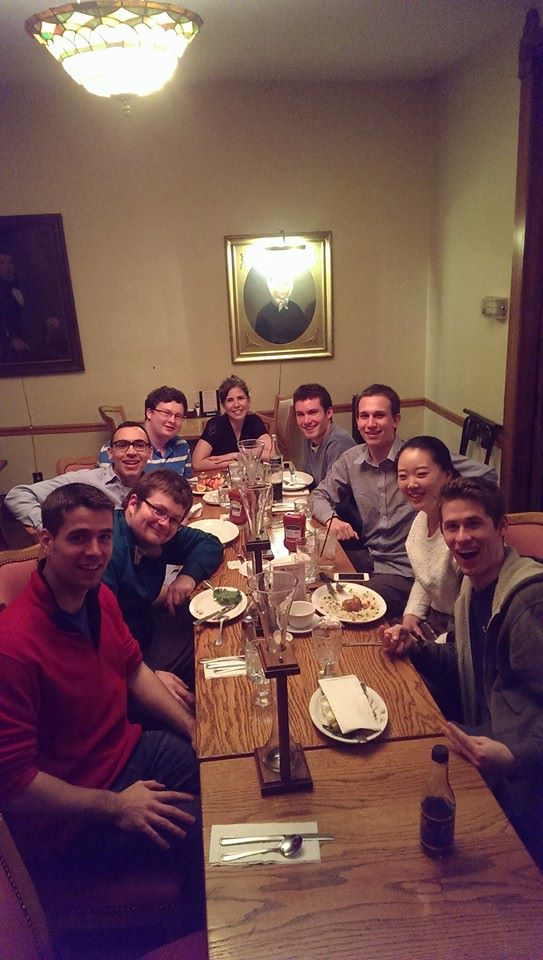 End-of-semester studio dinner at Indiana University, 2015