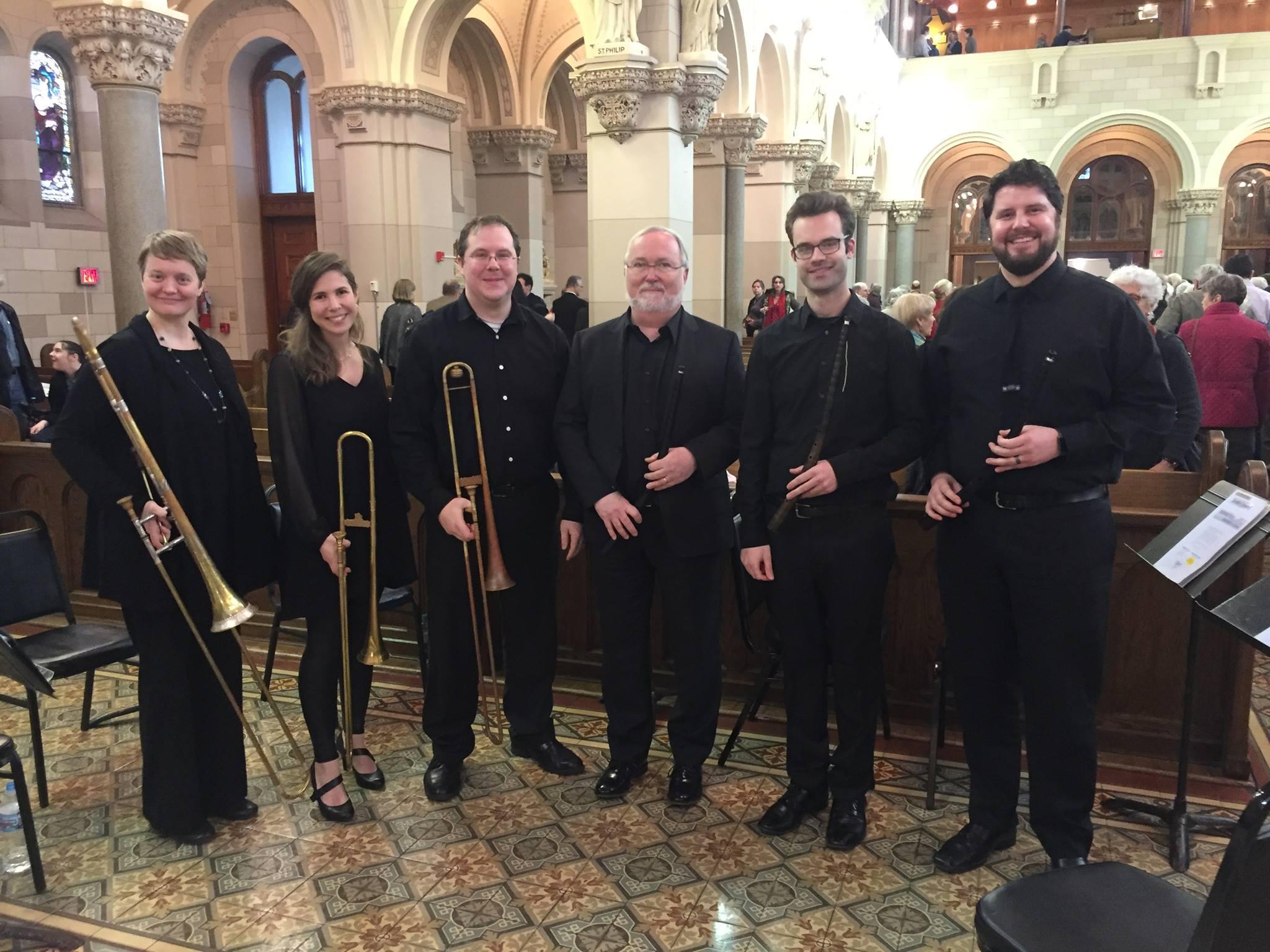 The brass section for Monteverdi's Vespers in Chicago