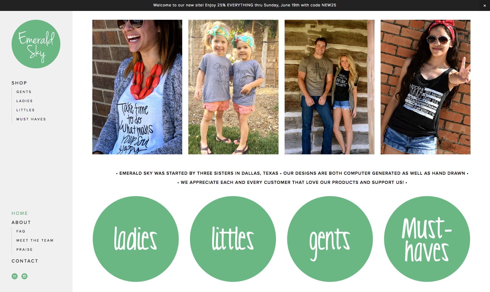 Website Design for Emerald Sky