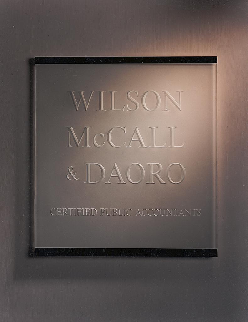 Wilson McCall & Daoro — San Francisco, CA