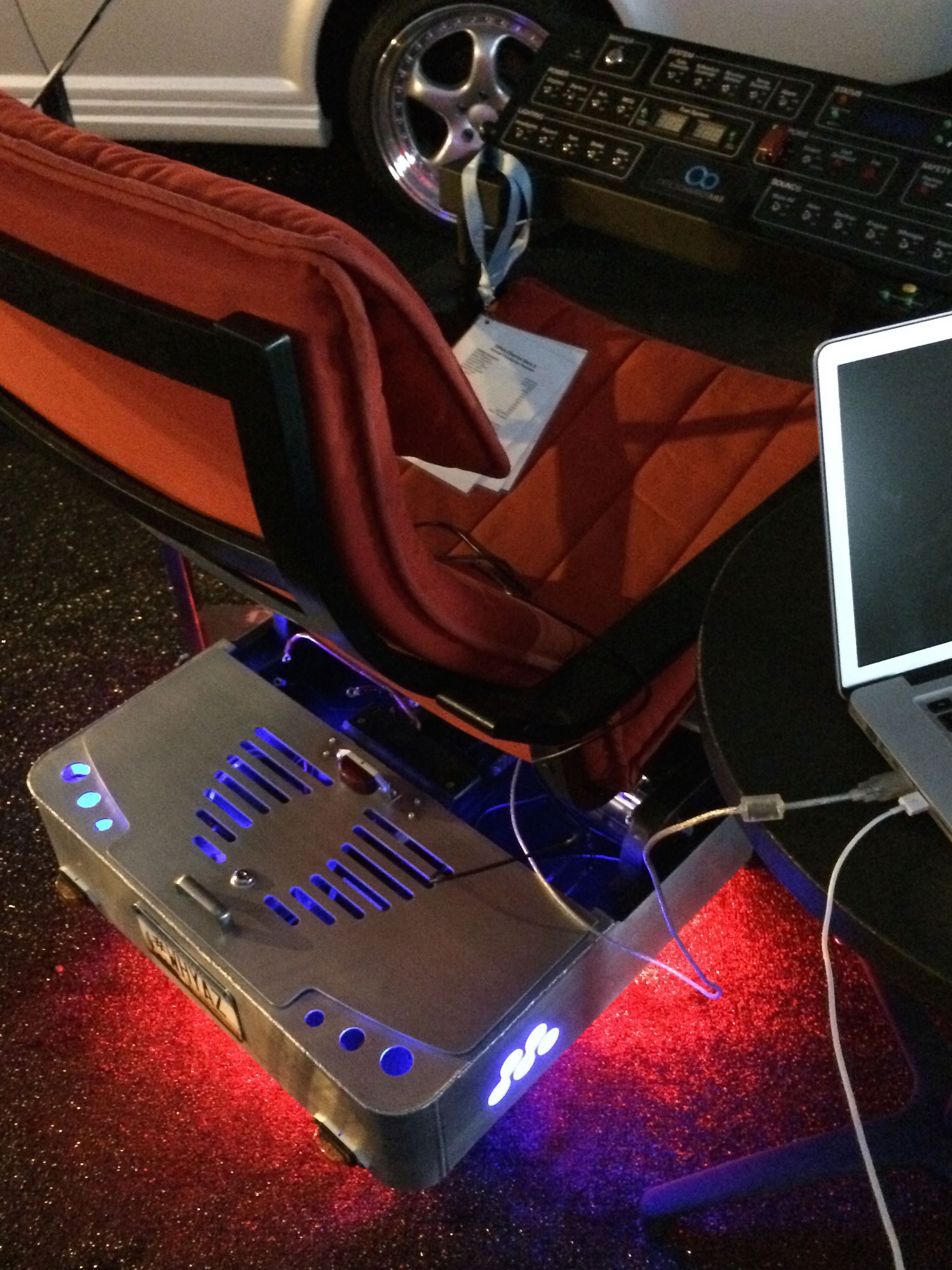 "Office Chairiot Mark II ""Wunderglow"" under-chassis RGB LED lighting"